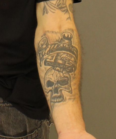 Jose Felix left forearm tattoo