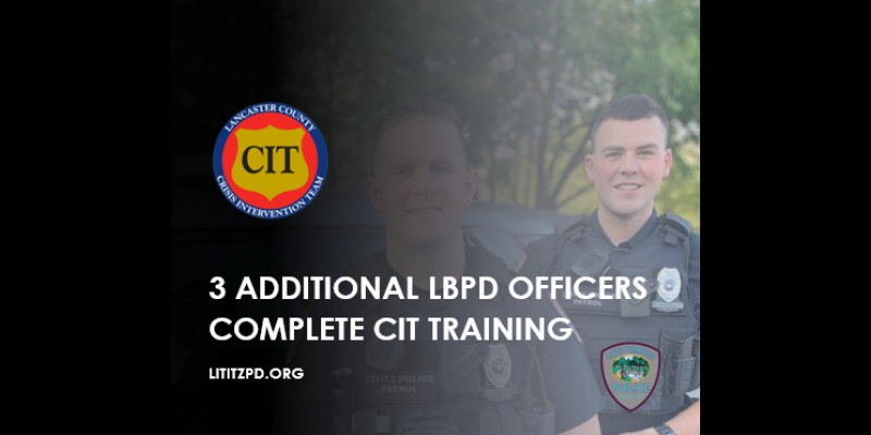 Image for Three Additional LBPD Officers Complete Crisis Intervention Training