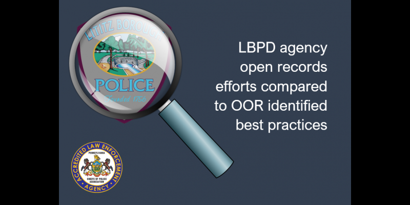 Image for PA Office of Open Records Releases Agency Website Review Report - Here is How the LBPD Compared