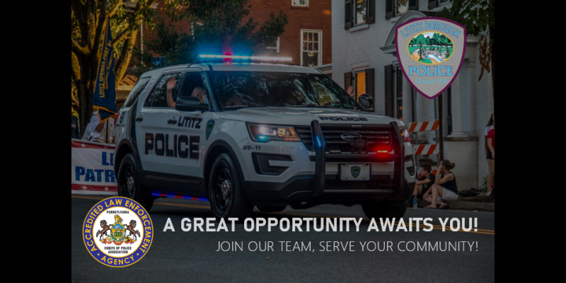 Image for Join our Team - Serve your Community - Open Patrol Officer Position